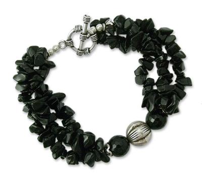 Onyx torsade bracelet