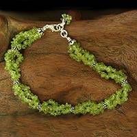 Peridot anklet, 'Song of Summer' - Peridot anklet