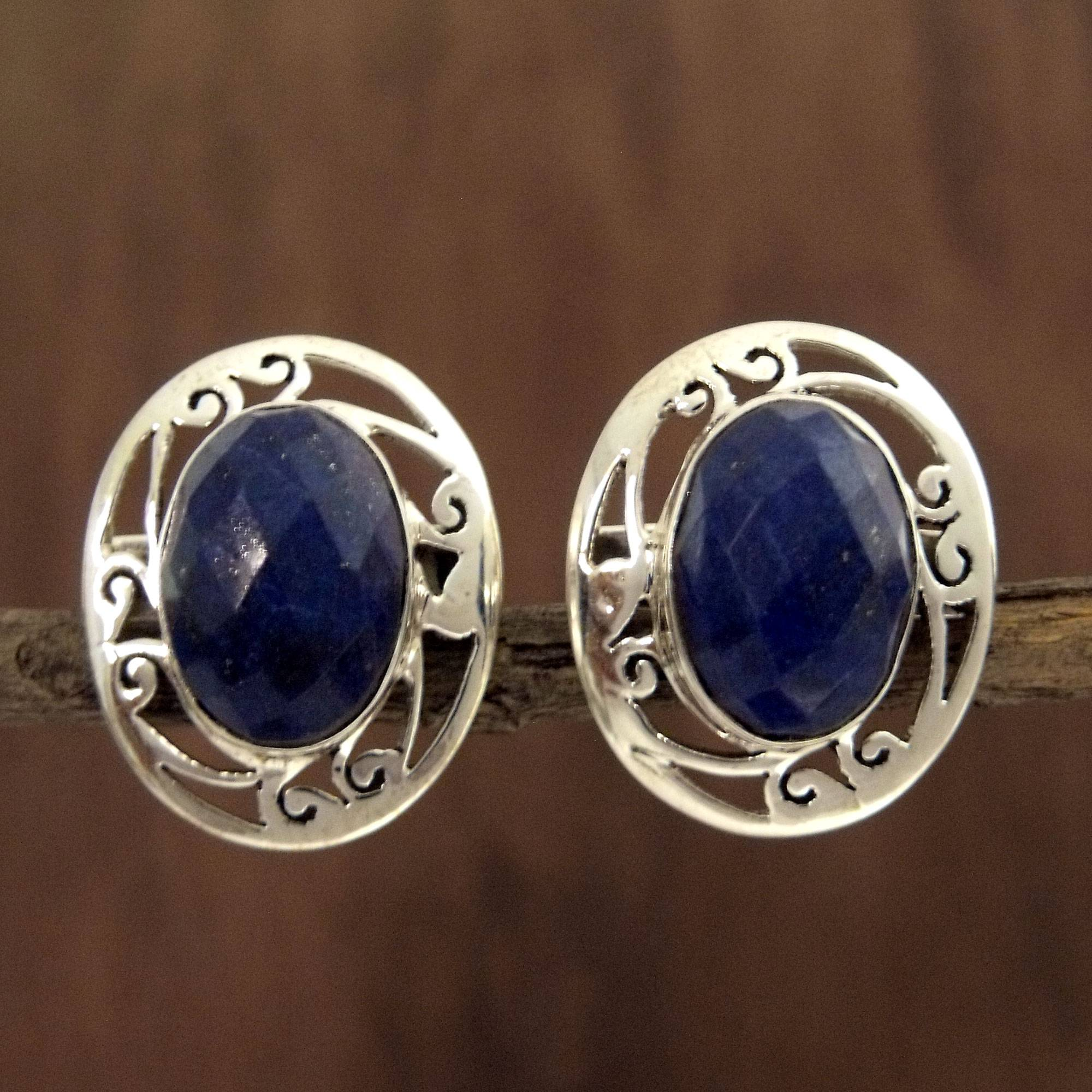 c90ff0884 Unicef UK Market | Women's Earrings Sterling Silver and Lapis Lazuli ...