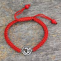 Diamond charm bracelet, 'Sacred Om' - Diamond charm bracelet
