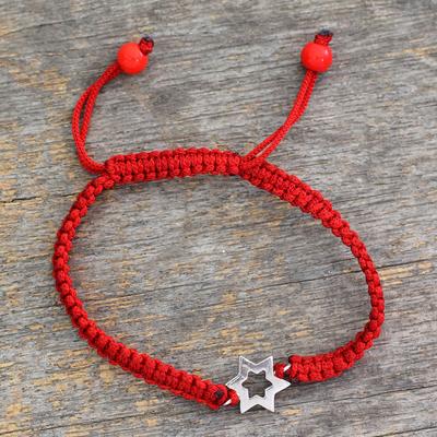 Sterling silver charm bracelet, 'Star of Hope' - Sterling silver charm bracelet