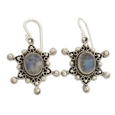Moonstone Earrings in Sterling Silver from India