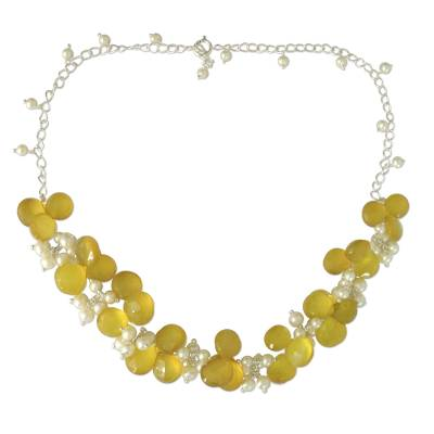 Pearl and Chalcedony Necklace from India