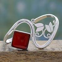 Featured review for Carnelian cuff bracelet, Arabesque