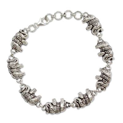 Elephant Jewelry Bracelet Sterling Silver from India