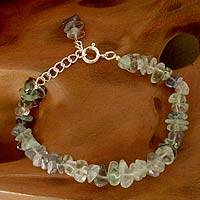 Fluorite dangling bracelet, 'India Color' - Fluorite dangling bracelet