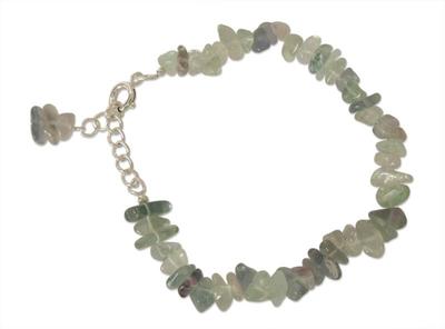 Fluorite dangling bracelet