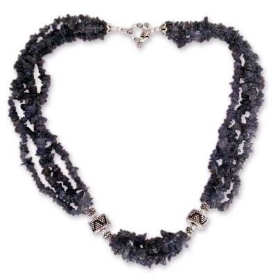 Iolite torsade necklace