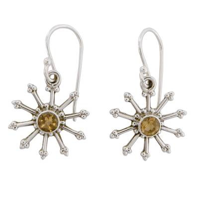 Handmade Sterling Silver Jewelry Earrings with Citrine