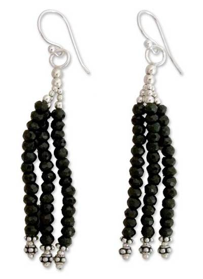 Onyx Earrings Hand Made with Sterling Silver