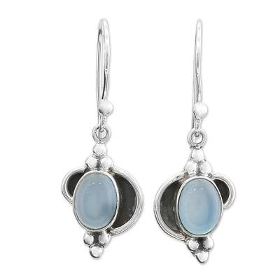 Fair Trade Sterling Silver and Chalcedony Earrings