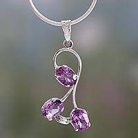 Amethyst pendant necklace, 'Dream Spirit' - Amethyst pendant necklace