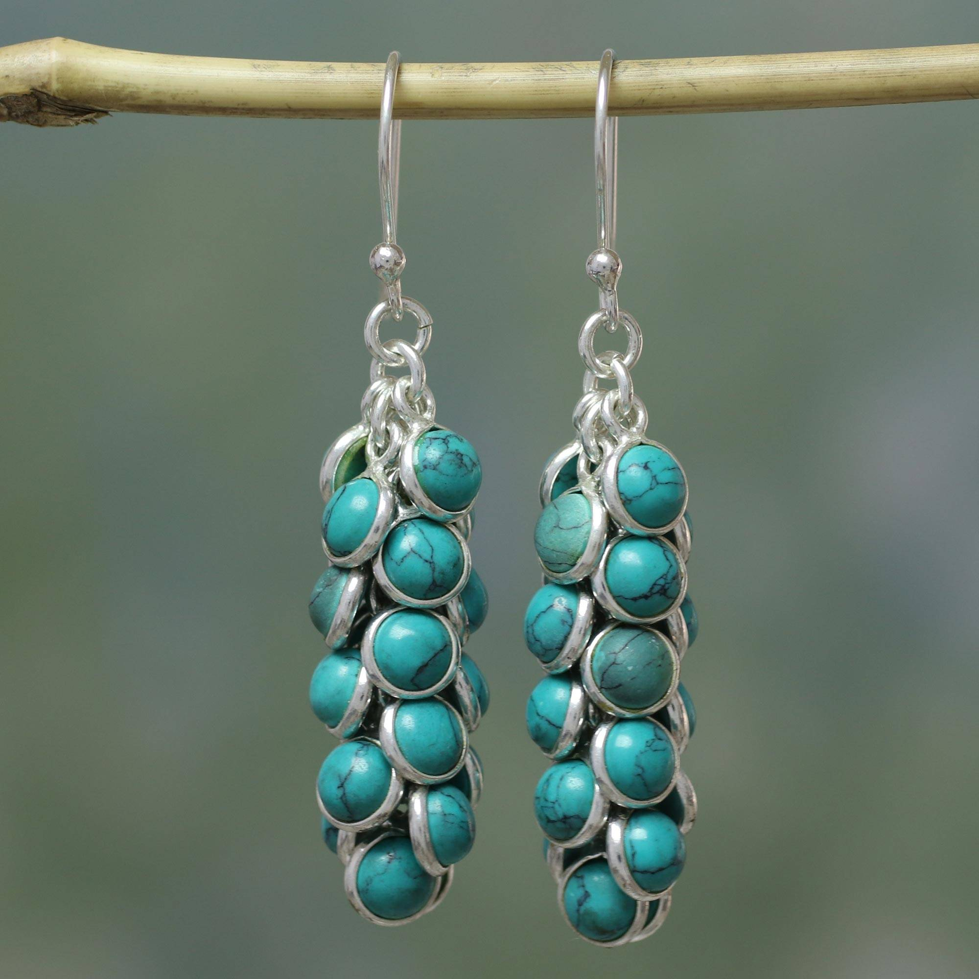 df6d51e1f UNICEF Market | Handcrafted Turquoise and Sterling Silver Waterfall ...