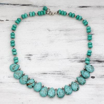 Sterling silver beaded necklace, 'Fortune's Friend' - Sterling silver beaded necklace