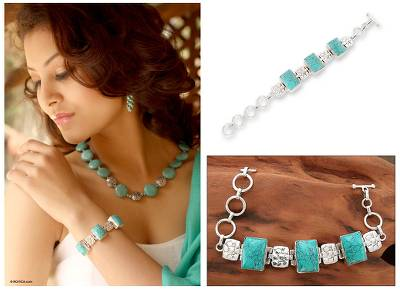Sterling silver chain bracelet, 'Rocky River' - Sterling silver chain bracelet