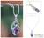 Amethyst pendant necklace, 'Jungle Orchid' - Amethyst pendant necklace thumbail