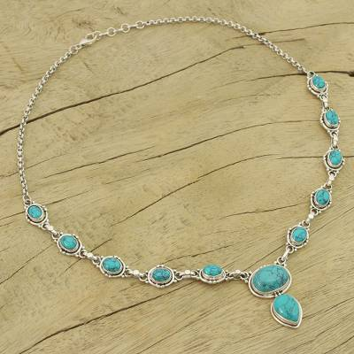 Sterling Silver Y Necklace From Blue Stone Jewelry Sky Dream