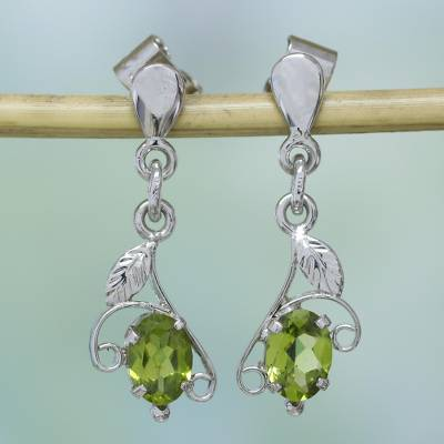 Peridot Dangle Earrings Precious One