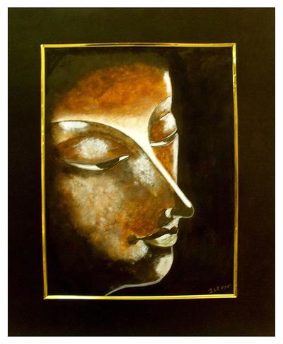 'Serenity I' - Expressionist Buddha Painting