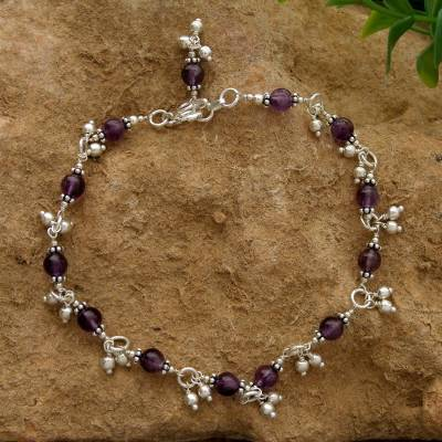 Amethyst anklet, Purple Splendor