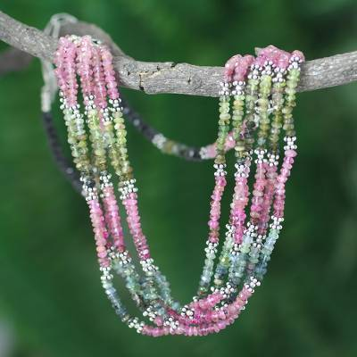 Tourmaline torsade necklace