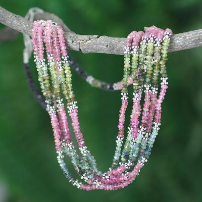 Tourmaline torsade necklace