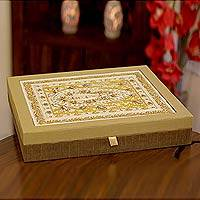 Jewelry box, 'Indore Treasures' - Jewelry box