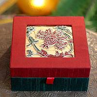 Jewelry box, 'Gujarat Bloom' - Jewelry box