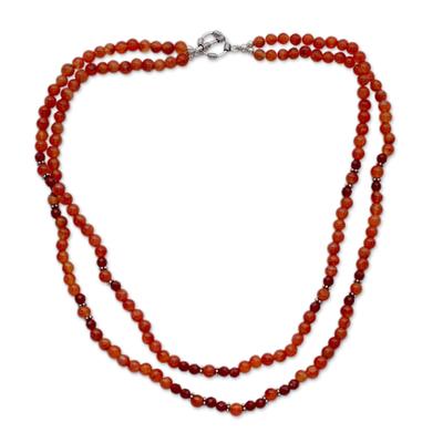 Carnelian strand necklace