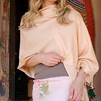 Wool and silk blend shawl,
