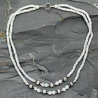 Moonstone strand necklace, 'Goa Damsel' - Moonstone strand necklace