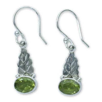 Peridot and Sterling Silver Artisan Crafted Earrings