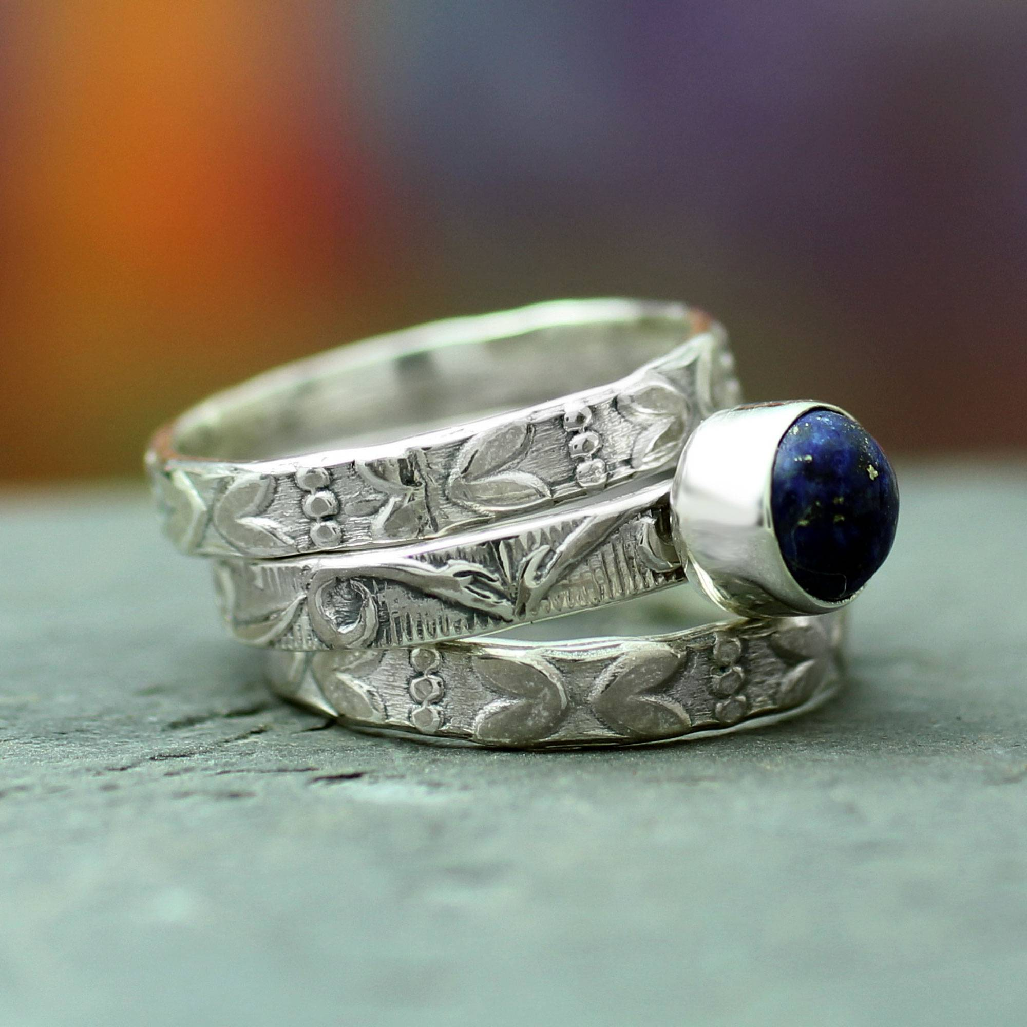 Bohemian jewelry stacked rings