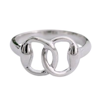 Fair Trade Modern Sterling Silver Band Ring