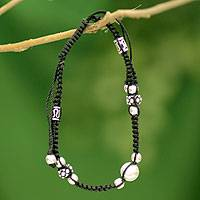 Sterling silver Shambhala-style bracelet, 'Jaipur Happiness' - Sterling Silver Artisan Crafted Shambhala-style Bracelet