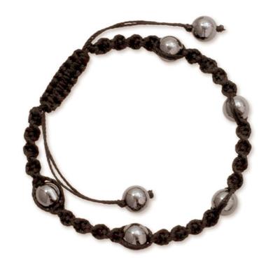 India Handmade Hematite Shamballa Bracelet