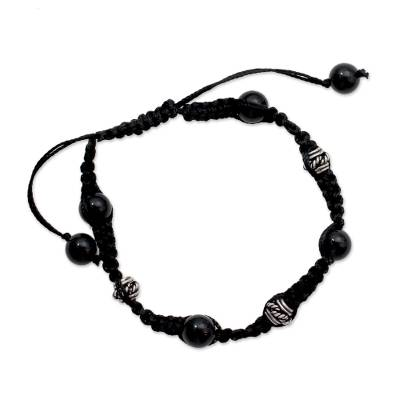 Handcrafted Onyx Shamballa Bracelet