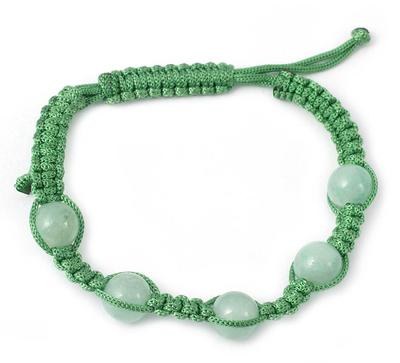Aventurine Macrame Shamballa Bracelet from India