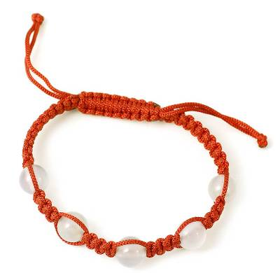 Handmade Chalcedony Shamballa Bracelet