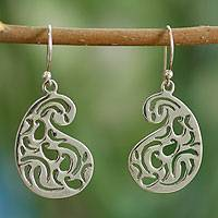 Sterling silver dangle earrings, 'Jaipur Serenade' - Sterling silver dangle earrings