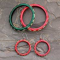 India grass jewelry set, 'Beautiful Bihar' - India grass jewelry set