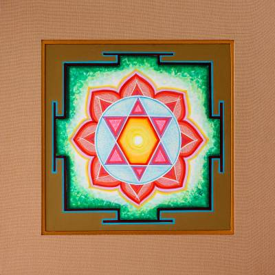 Yantra painting, 'Ganesha' - Yantra painting