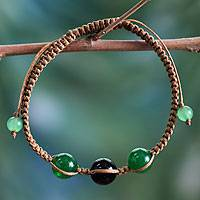 Featured review for Onyx Shambhala-style bracelet, Protective Tranquility