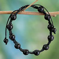 Featured review for Onyx Shambhala-style bracelet, Oneness