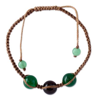 Smoky Quartz Shamballa Bracelet