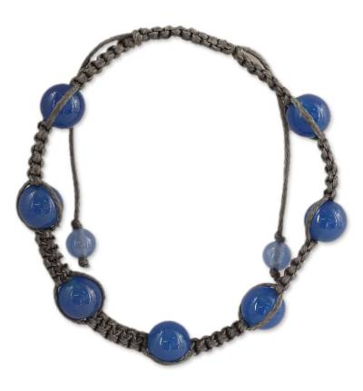 Cotton Chalcedony Bracelet Shamballa Jewelry