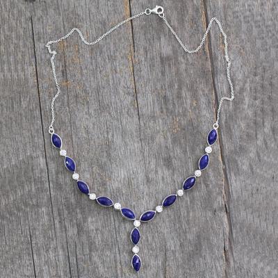 Lapis lazuli Y necklace, 'Ocean Dreamer' - Lapis lazuli Y necklace