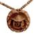 Wood flower necklace, 'Rose Heart' - Wood flower necklace thumbail
