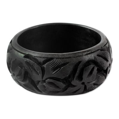 Unique Wood Bangle Bracelet