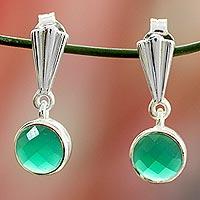 Sterling silver dangle earrings, 'Mumbai Serenade'